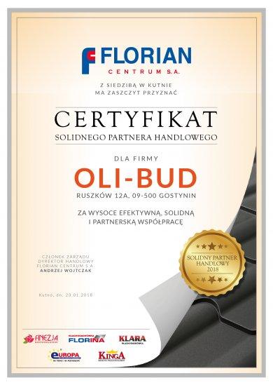 CERTYFIKAT Oli-Bud